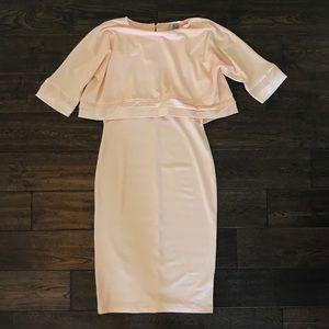 ASOS Pale Pink Modest Midi Dress
